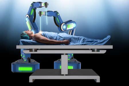 Chirurgie uitgevoerd door robotarm