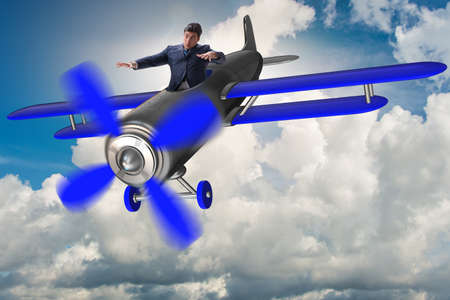Businessman in economic crisis concept Фото со стока