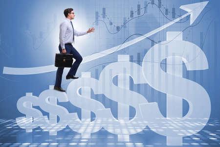 Zakenman in Amerikaanse dollar concept