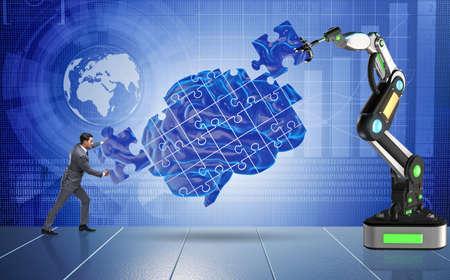 Kunstmatige intelligentie concept met zakenman