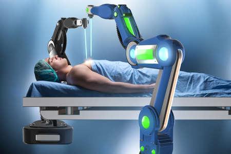Chirurgie durch Roboterarm durchgeführt Standard-Bild - 79168093