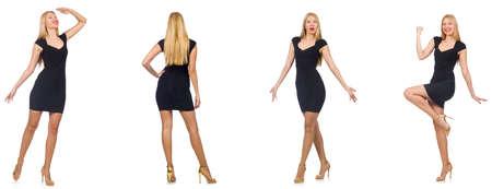Collage de la femme dans look mode isolé sur blanc Banque d'images - 79502829