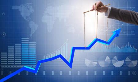 Zakenman die de groei in economie houdt