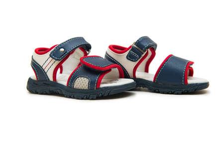 Baby schoenen geïsoleerd op de witte achtergrond Stockfoto - 80054182