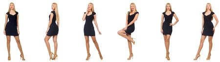 Collage de femme dans la mode semble isolé sur blanc Banque d'images - 80512058