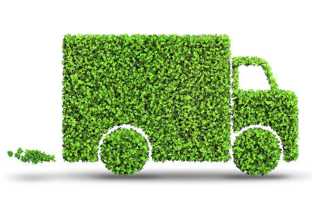 Concepto de coche eléctrico en concepto de medio ambiente verde - 3d Foto de archivo - 80531626