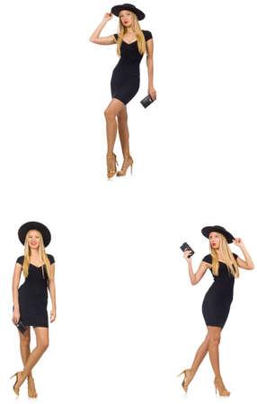 Femme à la mode semble isolé sur blanc Banque d'images - 81351308