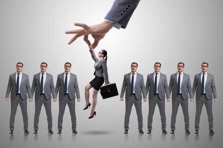 Recruitment concept met handplukwerknemer