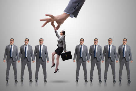 Recruitment concept with hand picking employee Stok Fotoğraf - 81368013