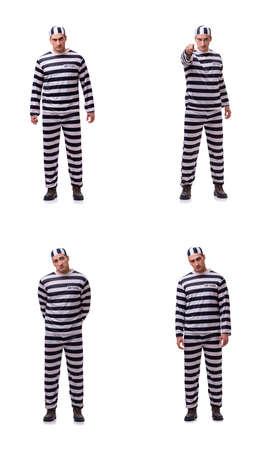 Man prisoner isolated on white background Stock Photo - 81734405