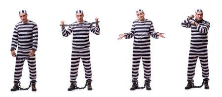Man prisoner isolated on white background Stock Photo