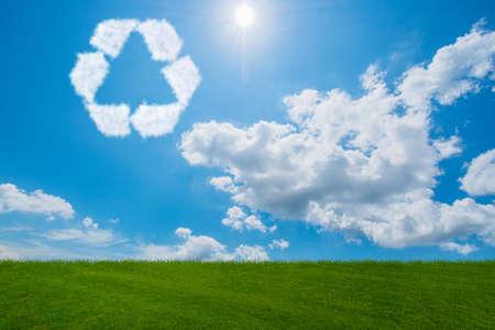 雲から作られたリサイクル シンボル