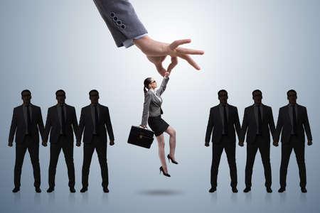 손을 따기 직원 채용 개념