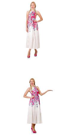 Femme en mode semble isolé sur blanc Banque d'images - 83142104