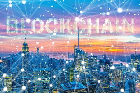 Blockchain-Konzept im Datenbankmanagement Standard-Bild - 83532161
