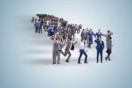 Foule de gens d & # 39 ; affaires dans le concept Banque d'images - 83532171