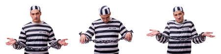 Man prisoner isolated on white background Stock Photo - 83532981