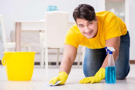 若い男の家事