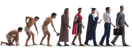 Progression of man mankind from ancient to modern