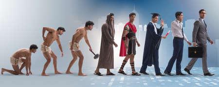古代から近代の男人類の進行