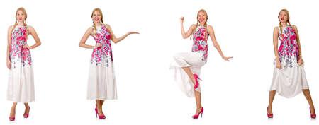 ファッションに見える白で隔離の女性