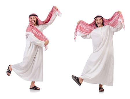 흰 배경에 고립 된 아랍 남자