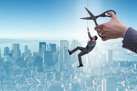 Homme d'affaires en concept de risque d'entreprise Banque d'images - 84371277
