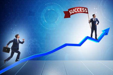 Zakenman in succes business concept
