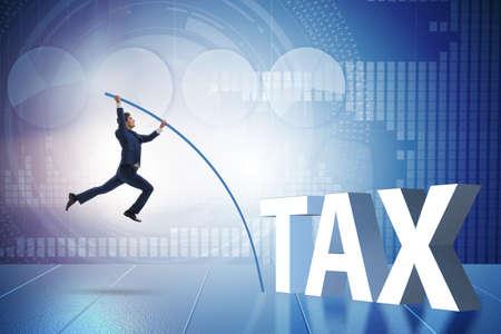 Businessman in tax evasion avoidance concept Stock Photo