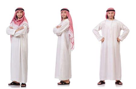 白い背景に孤立したアラブ人 写真素材