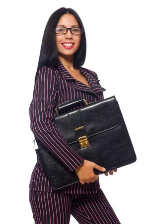 Donna businesswoman concetto isolato sfondo bianco