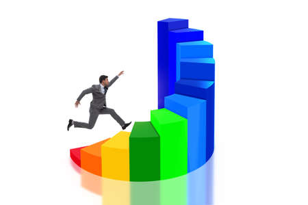 Career development with stairs in business concept Stock Photo