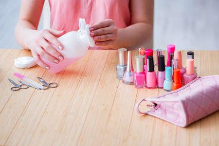 Beauty producten nagelverzorgingsmiddelen pedicure close-up Stockfoto - 87214600