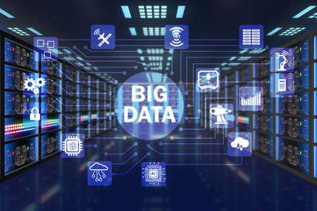 Grande concetto di calcolo dei dati della tecnologia IT moderna