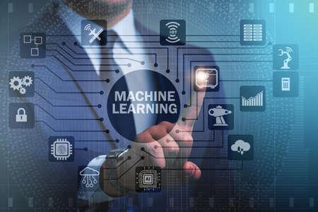 Machine Learning Computing-Konzept moderner IT-Technologie