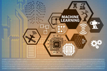 Machine learning computing concept of modern IT technology Stock Photo - 87682036