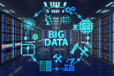 grand concept de données informatique de la technologie moderne