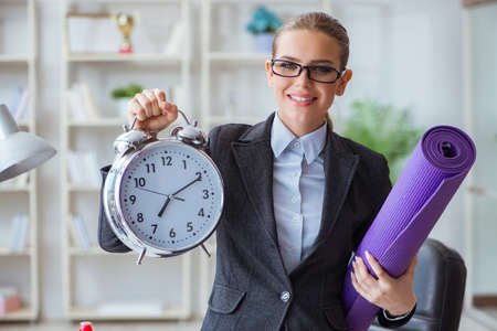 Young businesswoman in healthy lifestyle concept Stock fotó