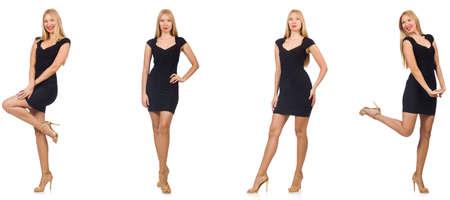 Collage de femme dans la mode semble isolé sur blanc Banque d'images - 89227123