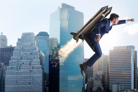 ビジネスマンのキャリアの進行の概念