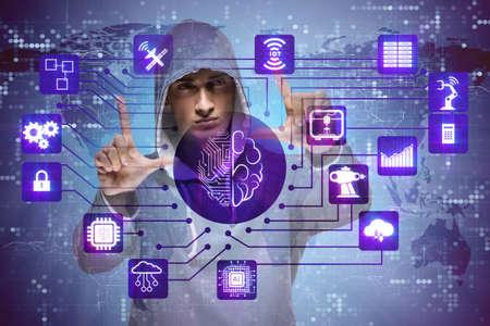 Man in artificial intelligence concept Banco de Imagens - 88834765