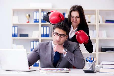 Office conflict between man and woman Stock fotó