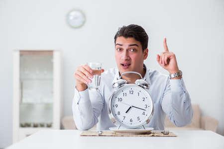 Concept of slow service in restaurants Banco de Imagens