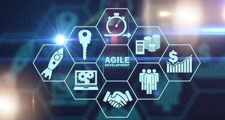 Concept of agile software development 写真素材