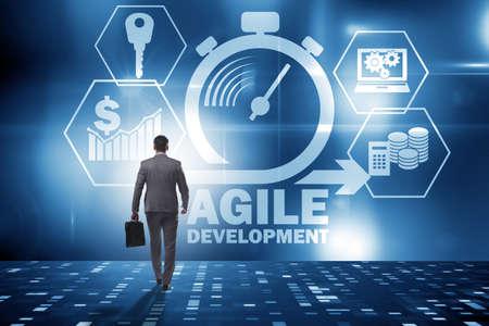 Concept of agile software development Stock fotó