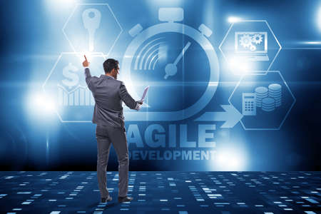 Concept of agile software development Banque d'images