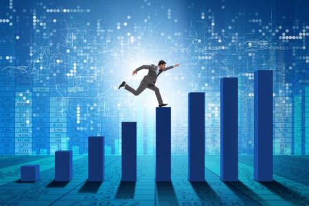 Biznesmen w kierunku sukcesu gospodarczego Zdjęcie Seryjne