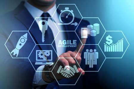 Concept of agile software development Zdjęcie Seryjne