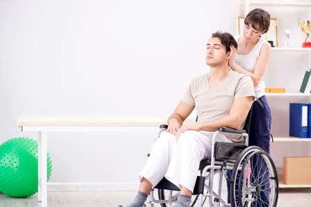 Patiënt herstelt in het ziekenhuis na letseltrauma