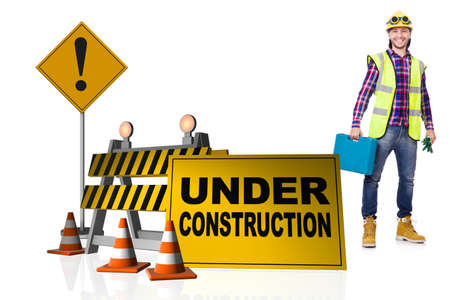 Concept of under construction for your webpage Foto de archivo